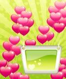 Priorità bassa del biglietto di S. Valentino. Immagine Stock