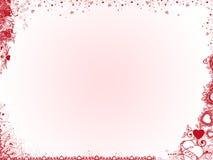 Priorità bassa del biglietto di S. Valentino immagini stock