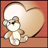 Priorità bassa del biglietto di S. Valentino con l'orso royalty illustrazione gratis