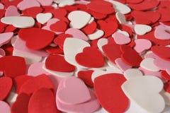Priorità bassa del biglietto di S. Valentino del cuore fotografia stock libera da diritti