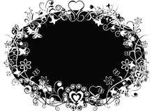 Priorità bassa del biglietto di S. Valentino di Grunge, vettore Fotografia Stock