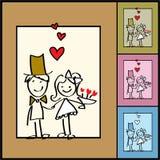 Priorità bassa del biglietto di S. Valentino di vettore, cerimonie nuziali illustrazione di stock