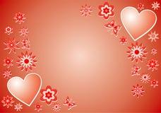 Priorità bassa del biglietto di S. Valentino, vettore Fotografia Stock Libera da Diritti