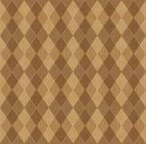 Priorità bassa del Brown con rhombuse Fotografia Stock