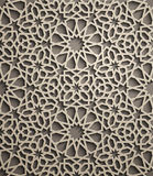 Priorità bassa del Brown Vettore islamico dell'ornamento, motiff persiano elementi rotondi islamici del modello di 3d il Ramadan  royalty illustrazione gratis