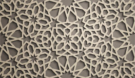 Priorità bassa del Brown Vettore islamico dell'ornamento, motiff persiano elementi rotondi islamici del modello di 3d il Ramadan  Immagine Stock Libera da Diritti