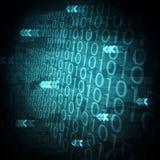 priorità bassa del calcolatore, codice binario, stile della tabella Fotografie Stock Libere da Diritti