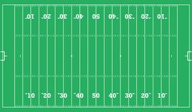 Priorità bassa del campo di football americano Illustrazione ENV 10 di vettore Immagine Stock
