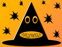 Priorità bassa del cappello di Halloween illustrazione di stock