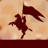 Priorità bassa del cavaliere della bandiera Immagini Stock Libere da Diritti