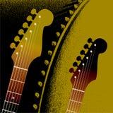 Priorità bassa del cerchio della chitarra Fotografia Stock Libera da Diritti