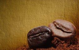 Priorità bassa del chicco di caffè Immagine Stock