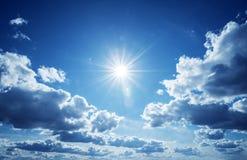 Priorità bassa del cielo blu Fotografie Stock