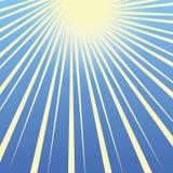 Priorità bassa del cielo blu Concetto di Sun Fotografie Stock