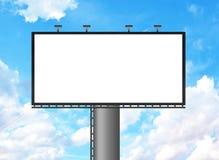 Priorità bassa del cielo blu e del tabellone per le affissioni Fotografia Stock Libera da Diritti