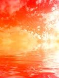 Priorità bassa del cielo dell'acqua immagine stock