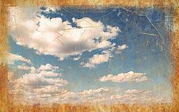 Priorità bassa del cielo dell'annata Fotografia Stock