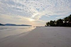 Priorità bassa del cielo su alba Composizione nella natura Fotografie Stock