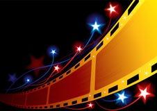 Priorità bassa del cinematografo Fotografie Stock Libere da Diritti