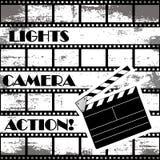 Priorità bassa del cinematografo Fotografia Stock
