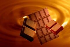 Priorità bassa del cioccolato fotografie stock