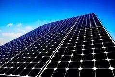 Priorità bassa del comitato solare Fotografie Stock Libere da Diritti
