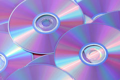 Priorità bassa del compact disc Fotografia Stock Libera da Diritti