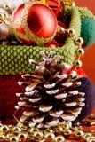 Priorità bassa del cono del pino Fotografia Stock
