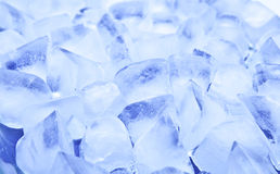 Priorità bassa del cubo di ghiaccio Fotografia Stock Libera da Diritti