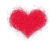 Priorità bassa del cuore Fotografia Stock