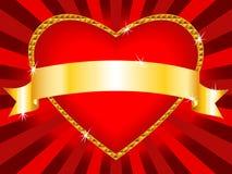 Priorità bassa del cuore del biglietto di S. Valentino illustrazione vettoriale