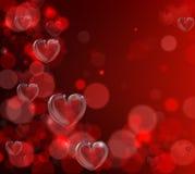 Priorità bassa del cuore di giorno dei biglietti di S. Valentino Immagini Stock