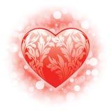 Priorità bassa del cuore di giorno del biglietto di S. Valentino illustrazione vettoriale