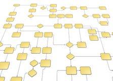 Priorità bassa del diagramma di flusso Fotografie Stock Libere da Diritti