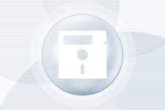 Priorità bassa del disco del calcolatore illustrazione vettoriale