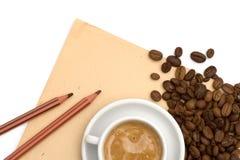 Priorità bassa del documento del grunge del caffè fotografia stock