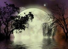 Priorità bassa del fairy della luna Fotografia Stock Libera da Diritti
