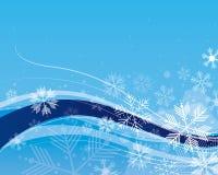 Priorità bassa del fiocco di neve Fotografia Stock Libera da Diritti