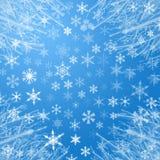 Priorità bassa del fiocco di neve Fotografie Stock Libere da Diritti