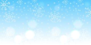 Priorità bassa del fiocco di neve di inverno Fotografia Stock Libera da Diritti