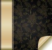 Priorità bassa del fiore con la fascia dorata Immagine Stock