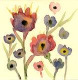 Priorità bassa del fiore dell'acquerello Fotografie Stock