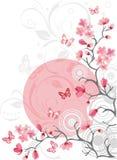 Priorità bassa del fiore di ciliegia royalty illustrazione gratis