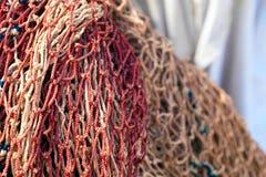 Priorità bassa del Fishnet Fotografia Stock Libera da Diritti