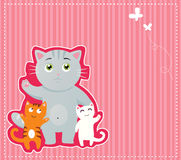 Priorità bassa del gattino royalty illustrazione gratis