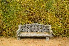 Priorità bassa del giardino del banco Fotografia Stock
