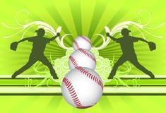 Priorità bassa del giocatore di baseball Fotografie Stock