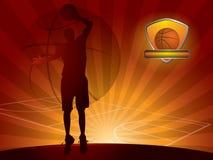 Priorità bassa del giocatore di pallacanestro Fotografie Stock