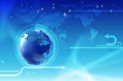 Priorità bassa del globo di tecnologia illustrazione di stock