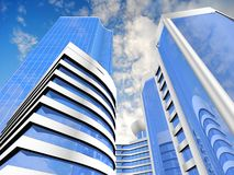 Priorità bassa del grattacielo Immagine Stock
